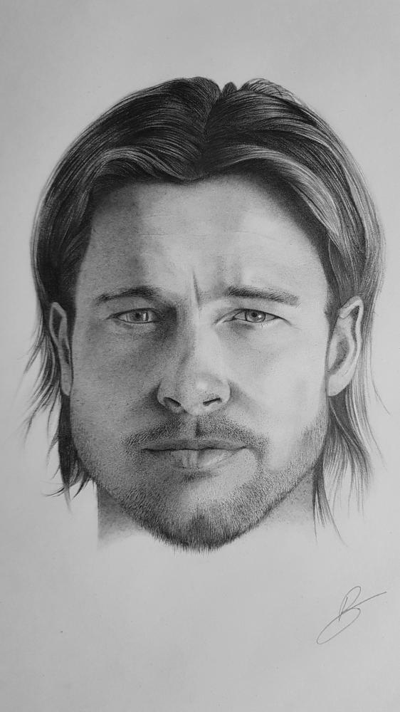 Brad Pitt by Syd